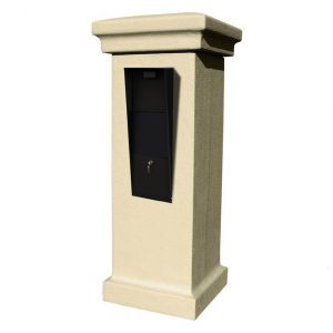 Vacation Mailbox Stucco Column Column Color: Slate Grey