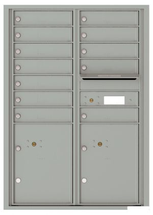 Versatile Front Loading Commercial Mailbox with 12 Tenant Doors and 2 Parcel Lockers - Double Column
