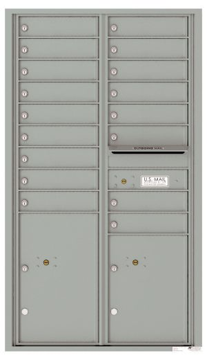 usps approved Front Loading Commercial Mailbox with 17 Tenant Doors and 2 Parcel Lockers