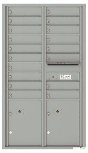 usps approved Front Loading Commercial Mailbox with 18 Tenant Doors and 2 Parcel Lockers