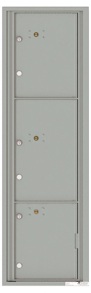 usps approved Front Loading Commercial Mailbox with 3 Parcel Lockers
