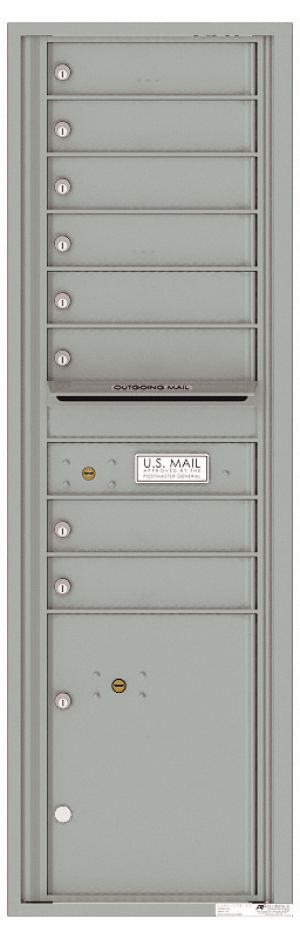 usps approved Front Loading Commercial Mailbox with 8 Tenant Doors and 1 Parcel Locker
