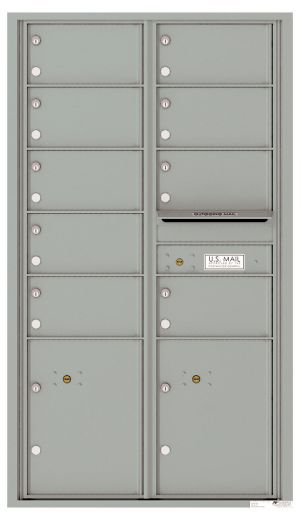 usps approved Front Loading Commercial Mailbox with 9 Tenant Doors and 2 Parcel Lockers
