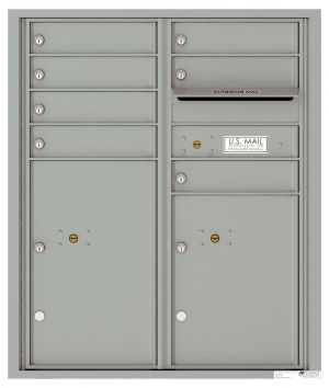 Recessed Apartment Mailbox with 7 Tenant Compartments and 2 Parcel Lockers