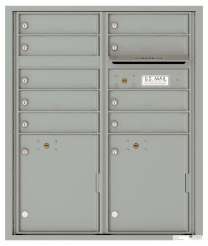 Recessed Apartment Mailbox with 9 Tenant Compartments and 2 Parcel Lockers