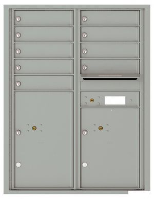 Versatile Front Loading Double Column Commercial Mailbox with 9 Tenant Doors and 2 Parcel Lockers