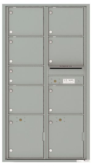 usps approved Front Loading Double Column Mailbox with 7 Tenant Compartments and 2 Parcel Lockers