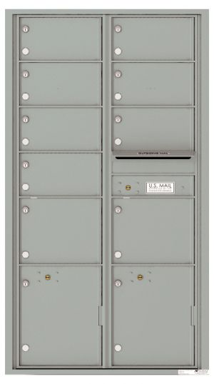 usps approved Front Loading Double Column Mailbox with 9 Tenant Compartments and 2 Parcel Lockers