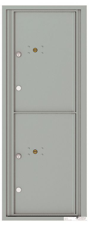 Versatile Front Loading Fully Recessed Single Column Commercial Mailbox with 2 Large Parcel Lockers