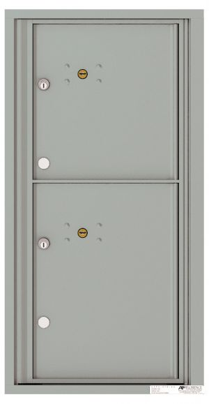 Versatile Front Loading Fully Recessed Single Column Commercial Mailbox with 2 Parcel Lockers