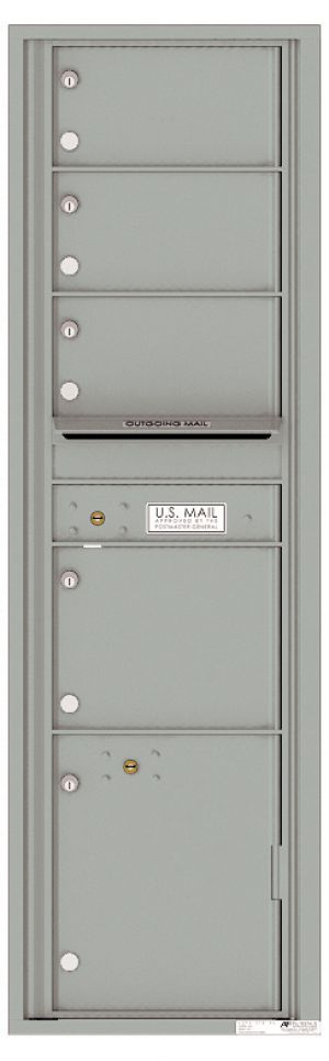 usps approved Front Loading Mailbox 4 Tenant Compartments and 1 Parcel Locker