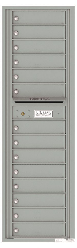 Versatile Front Loading Mailbox with 14 Tenant Compartments