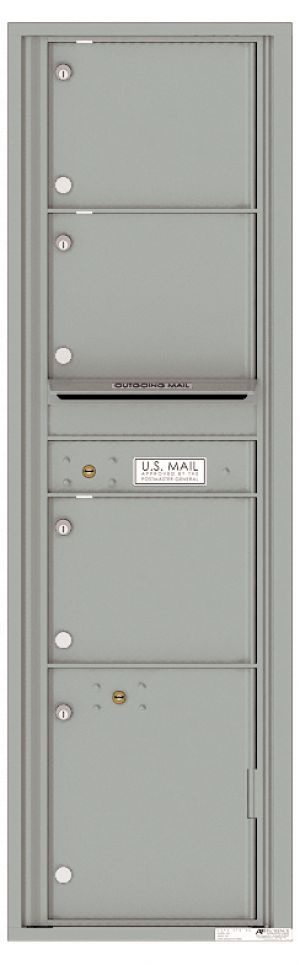 usps approved Front Loading Mailbox with 3 Tenant Compartments and 1 Parcel Locker