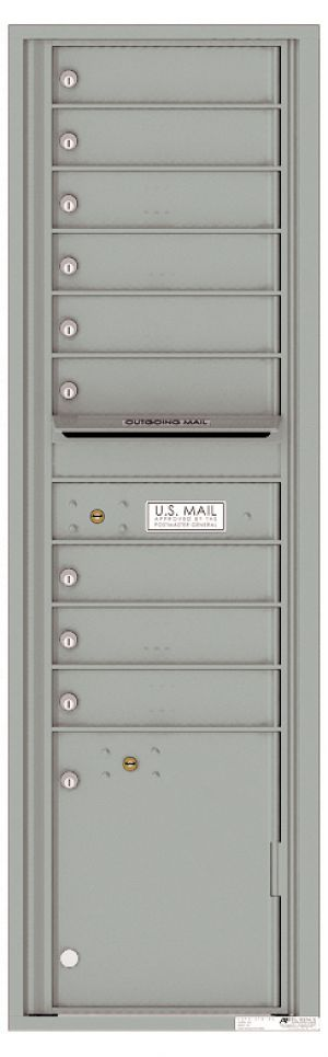 usps approved Front Loading Mailbox with 9 Tenant Compartments and 1 Parcel Locker