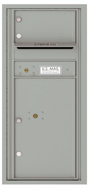 Recessed Apartment Mailbox with 1 Tenant Compartment and 1 Parcel Locker
