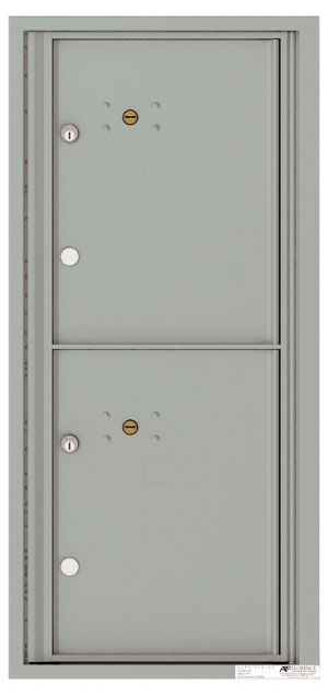 Recessed Apartment Mailbox with 2 Extra-Large Parcel Lockers