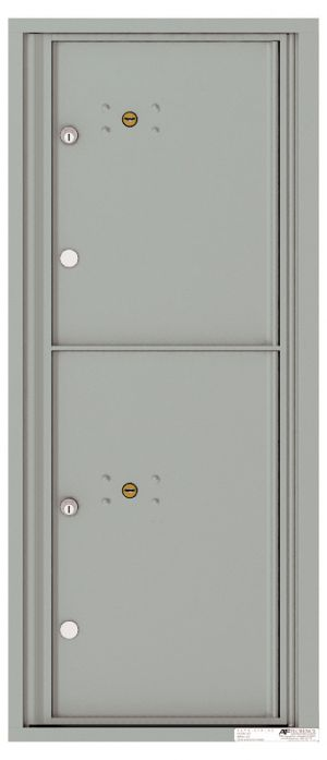 Versatile Front Loading Single Column Commercial Mailbox with 2 Parcel Lockers