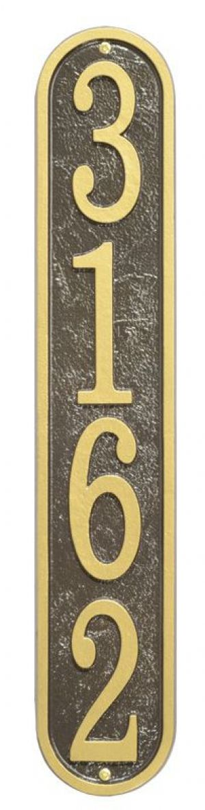 Fast & Easy Vertical House Numbers Plaque