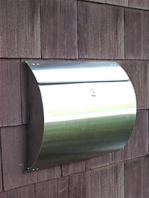 Spira Unique Wall Mount Mailbox - Stainless Steel