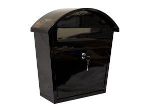 Ridgeline locking mailbox in Black color