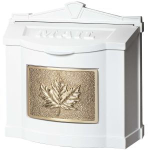 white-wall-mailbox-with-polished-brass-leaf-emblem