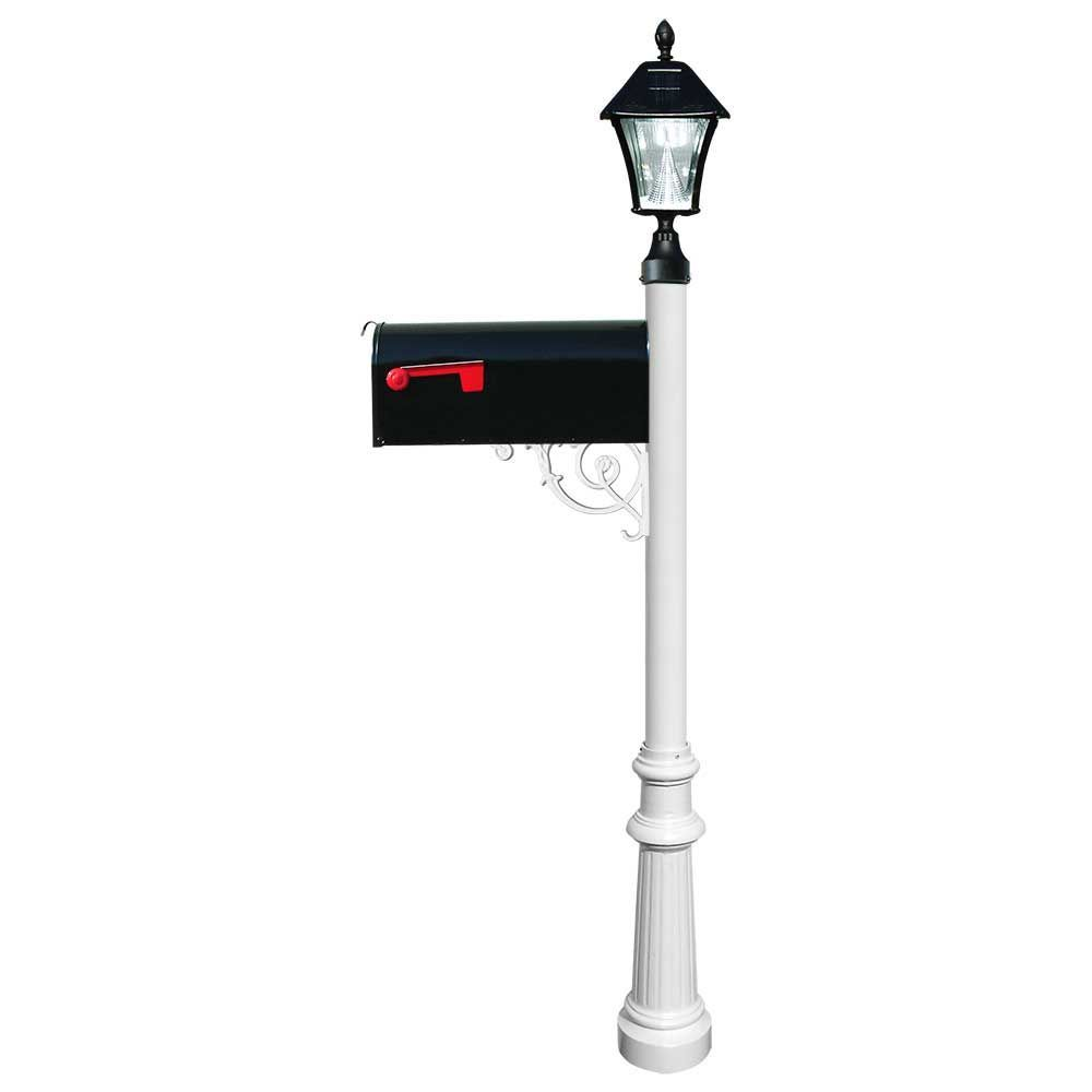 Lewiston Post With Economy 1 Mailbox And Fluted Base