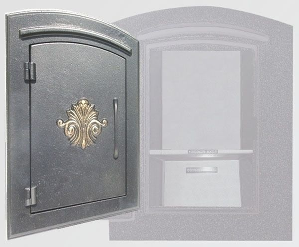 Manchester Security Locking Column Mount Mailbox With Scroll Emblem Stucco Column Not Included