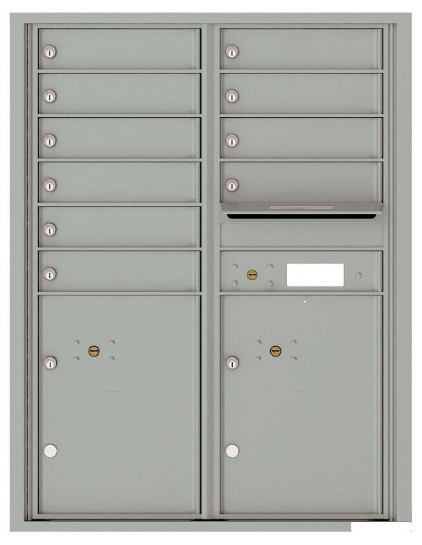 Mailbox With 10 Tenant Doors And 2 Parcel Lockers 4c11d 10
