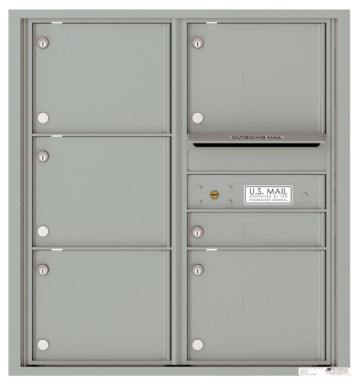 Mailbox With 6 Tenant Compartments And Outgoing Mail Slot