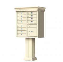 Cluster Box Unit with Crown Cap and Pillar Pedestal  Accessories -12 Compartments