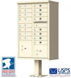 16 Door USPS Approved Cluster Mailbox