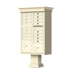 Cluster Box Unit  With Crown Cap and Pillar Pedestal  Accessories -16 Compartments