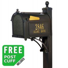 Whitehall Deluxe Residential Mailbox and post