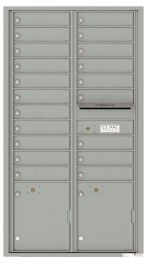 Front Loading USPS Mailbox With 20 Tenant Compartments and 2 Parcel Lockers