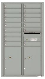usps approved Front Loading Commercial Mailbox with 16 Tenant Doors and 2 Parcel Lockers