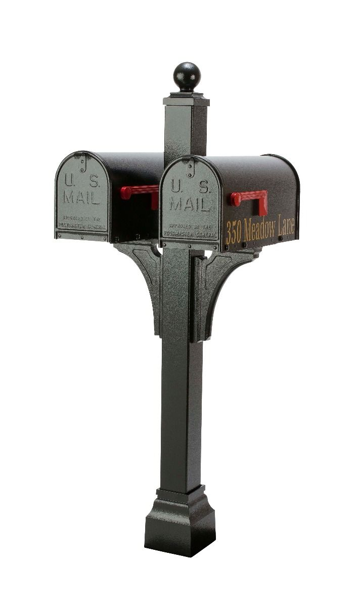Janzer Multi-Mount Double Mailbox Post (Optional Mailboxes Available)