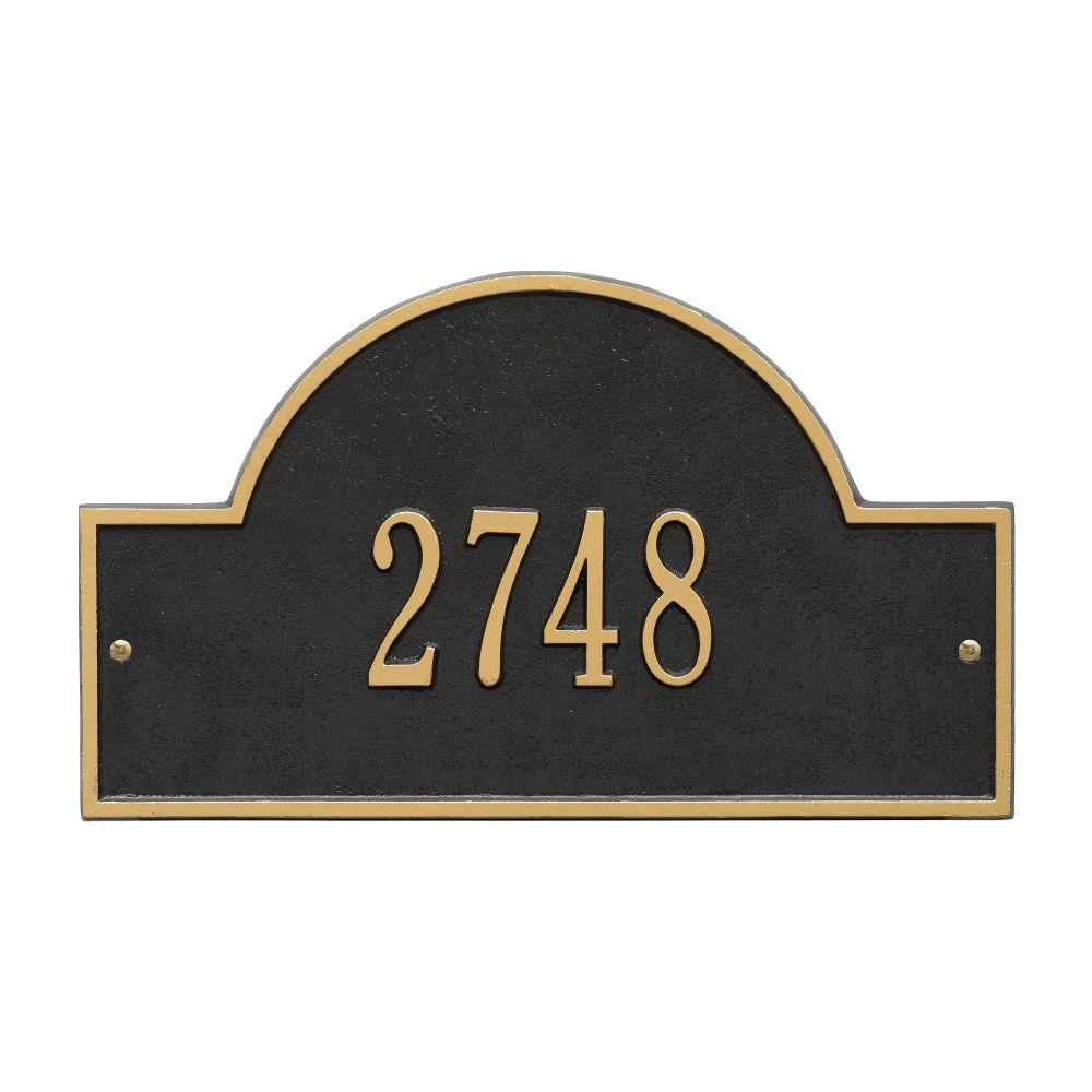 Whitehall Arch Marker - Standard Wall - One Line Address Plaque