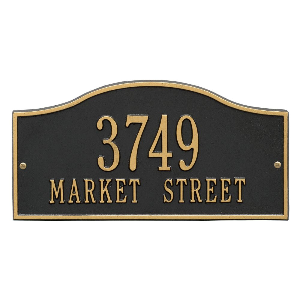 Whitehall Rolling Hills Plaques - Standard Wall - Two Line Address Plaque