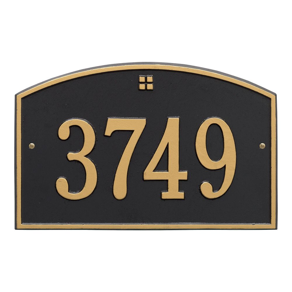 Whitehall Cape Charles - Standard Wall - One Line Address Plaque