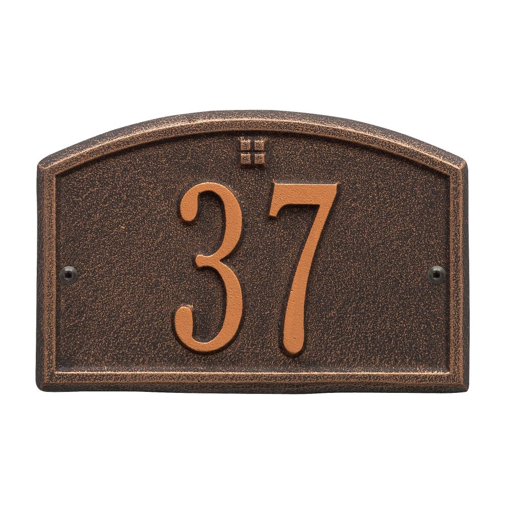 Whitehall Cape Charles - Petite Wall - One Line Address Plaque