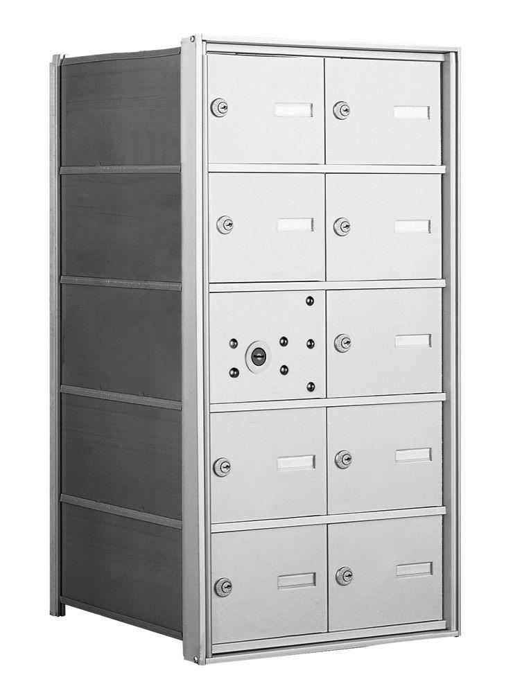 4B+ Front-Loading Horizontal Mailboxes - 9 Tenant Doors and 1 Master Door