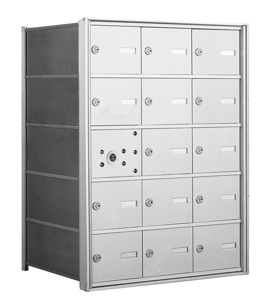 4B+ Front-Loading Horizontal Mailboxes - 14 Tenant Doors And 1 USPS Master Door