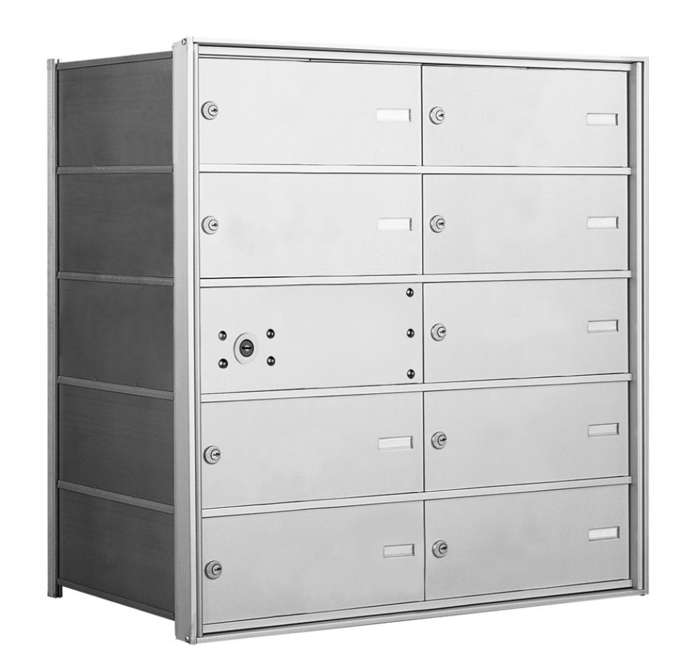 4B+ Front-Loading Horizontal Mailboxes - 9 Double Wide Tenant Doors and 1 Master Door