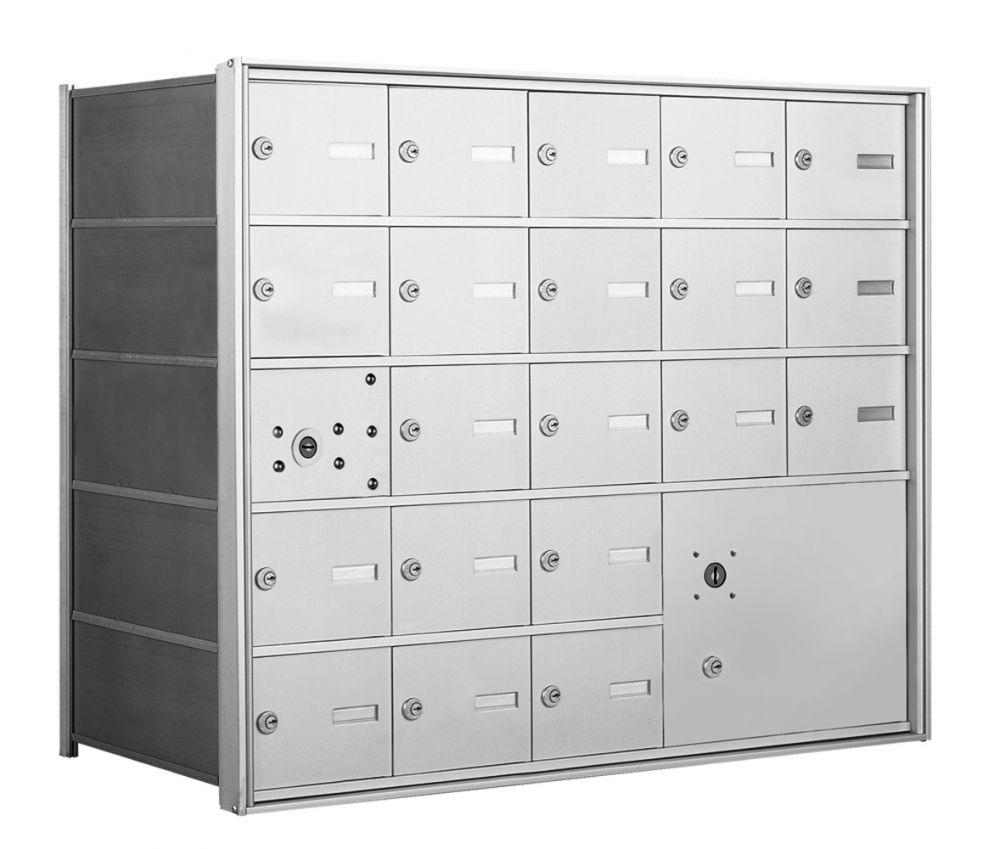 4B+ Front-Loading Horizontal Mailboxes - 20 Tenant Doors and 1 Parcel Locker