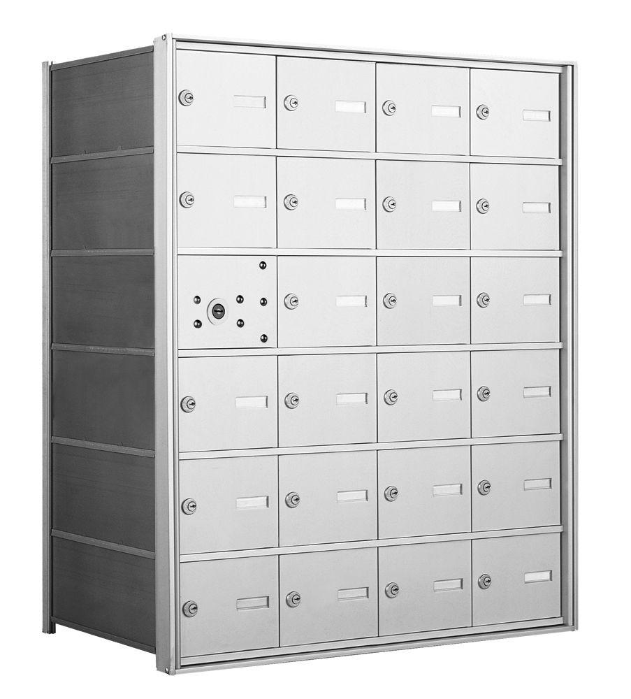 1400 Series Front-Loading Horizontal Mailboxes - 23 Tenant Doors And 1 USPS Master Door