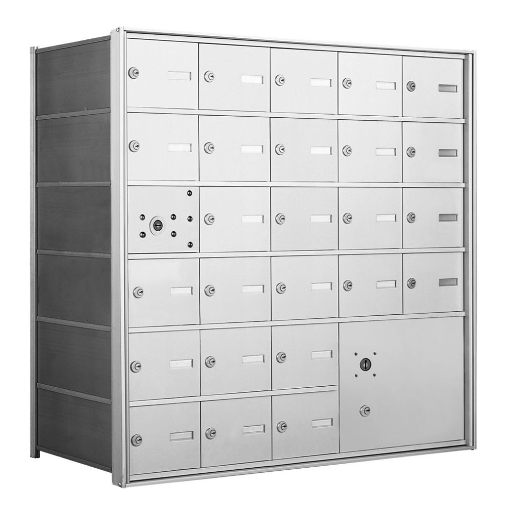 4B+ Front-Loading Horizontal Mailboxes - 25 Tenant Doors and 1 Parcel Locker
