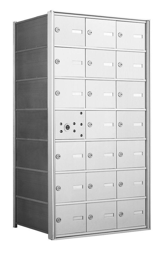 1400 Series Horizontal Front Loading Mailboxes - 20 Tenant Doors And 1 USPS Master Door