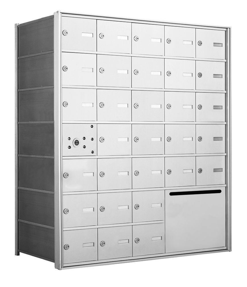 1400 Series Front-Loading Horizontal Mailboxes - 30 Doors and 1Outgoing Mail Collection