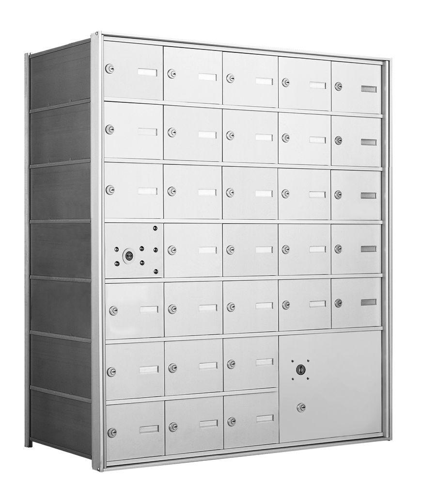 4B+ Front-Loading Horizontal Mailboxes - 30 Tenant Doors and 1 Parcel Locker