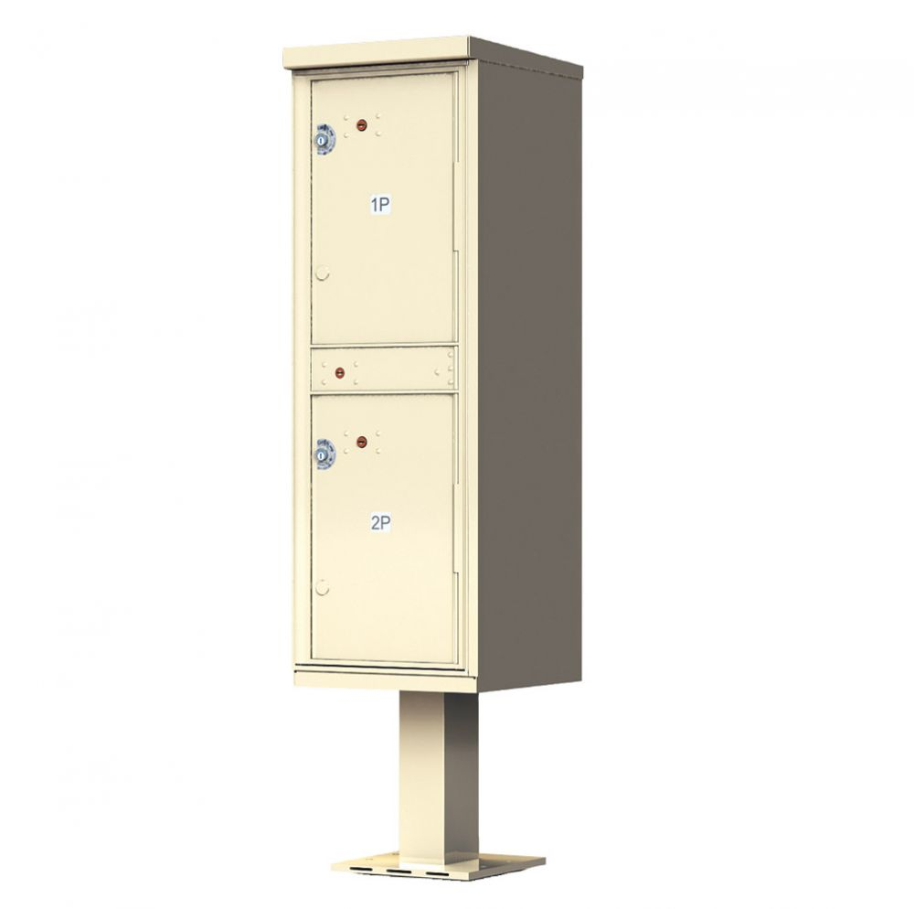 Outdoor Parcel Locker with Pedestal - 2 Parcel Lockers for Cluster Mailboxes